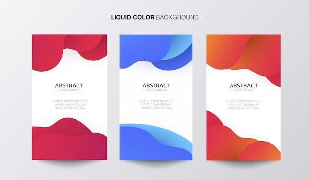 Abstract liquid banner Free Vector