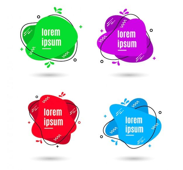 Abstract liquid banners Premium Vector