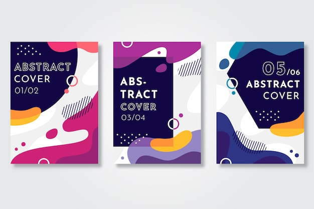 Abstract liquid effect covers template Free Vector
