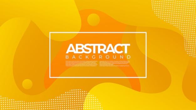 Abstract liquid fluid background design with orange color Premium Vector