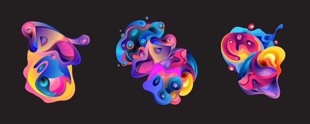 Abstract liquid shape background Premium Vector