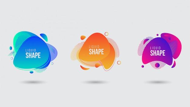 Abstract liquid shape banner template Premium Vector