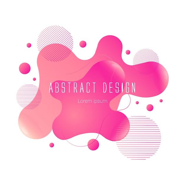 Abstract liquid shape Premium Vector