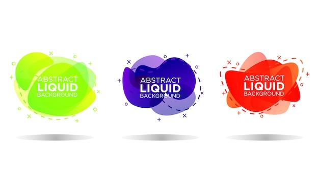 Abstract liquid templates Premium Vector
