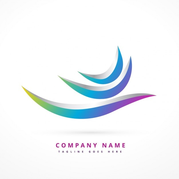 Abstract logo in 3d Free Vector