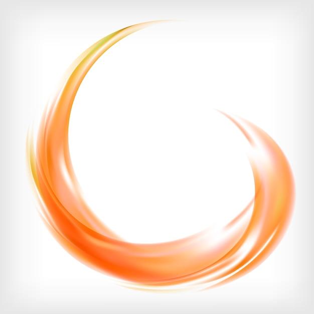 Abstract logo design in orange Free Vector
