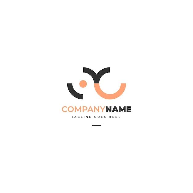 抽象的なロゴ編集テンプレート 無料ベクター