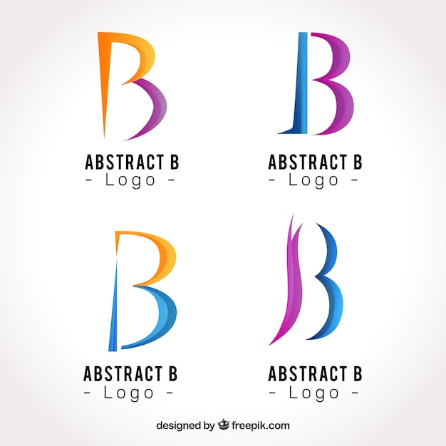 Abstract logo letter b template collection vector free download abstract logo letter b template collection free vector pronofoot35fo Image collections