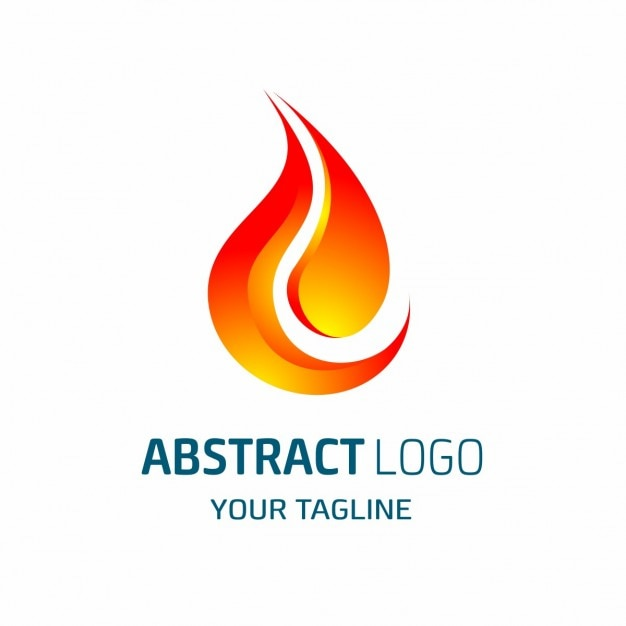Abstract logo shaped red flame Free Vector