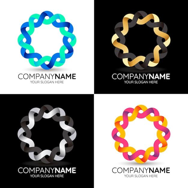 Abstract logo template collection Premium Vector