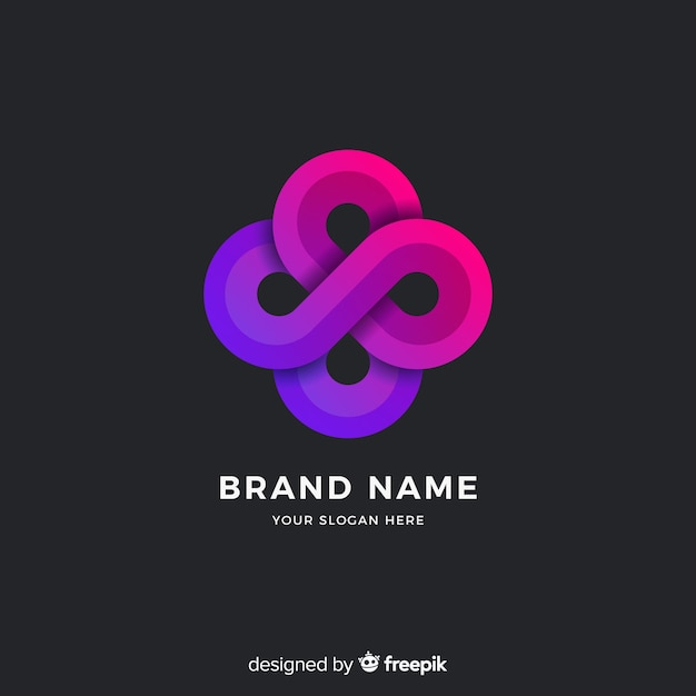 Abstract logo template gradient style Free Vector