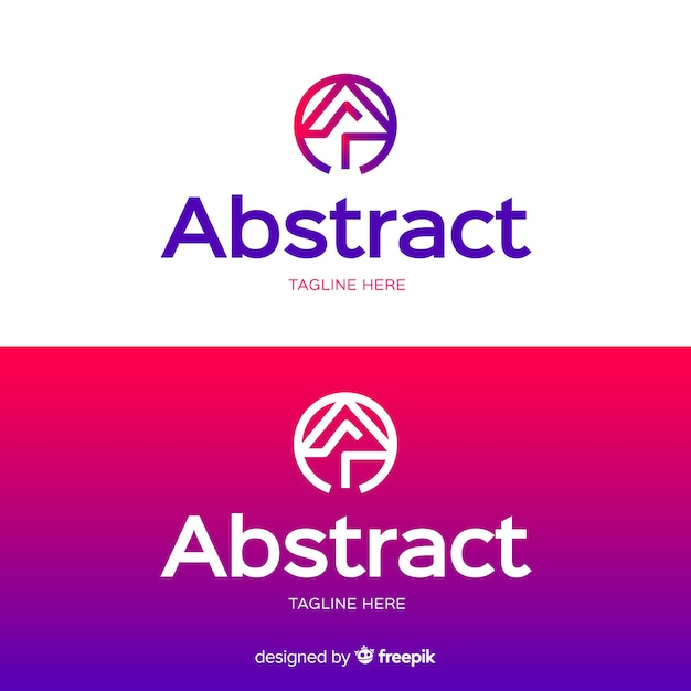 Abstract logo template for light and dark background Free Vector