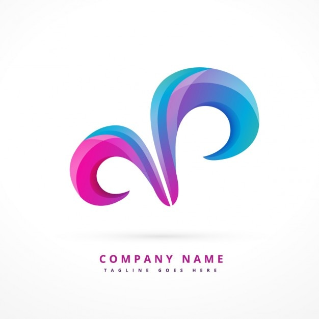 Abstract logo with swirls Free Vector