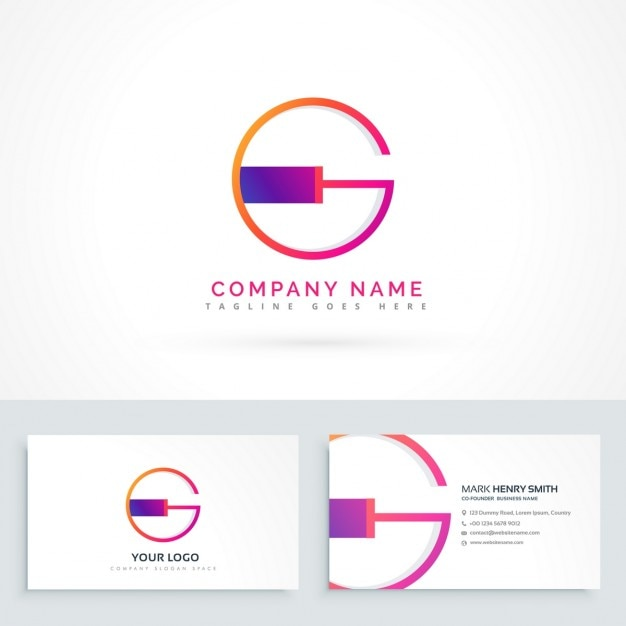 abstract logo with the letter g vector free download