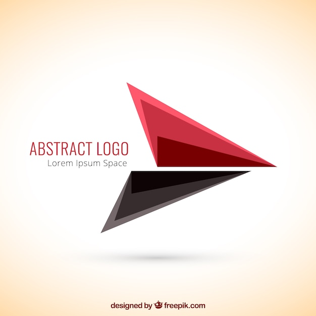 Abstract logo with triangles Free Vector