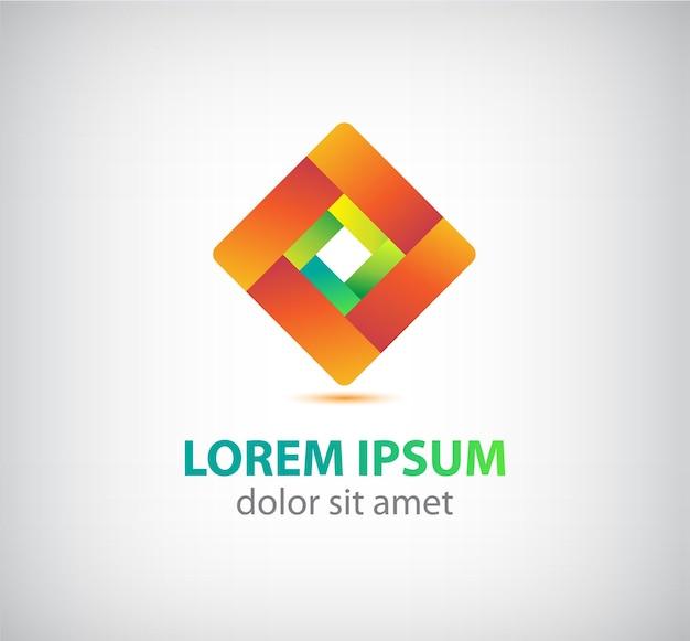 抽象的なループリボンの幾何学的なアイコン、分離されたロゴ Premiumベクター