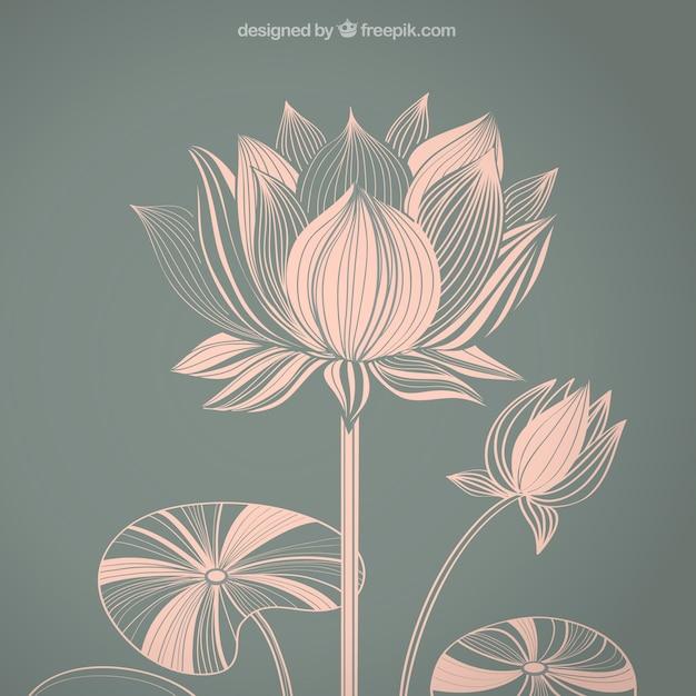 Abstract lotus flower vector premium download abstract lotus flower premium vector mightylinksfo