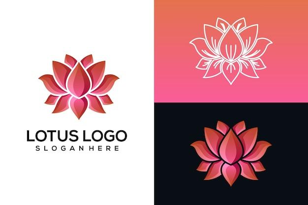 抽象的な蓮のロゴ Premiumベクター