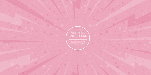 Abstract love valentine color with pink background Premium Vector