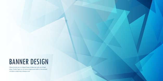 Abstract low poly banner design Free Vector