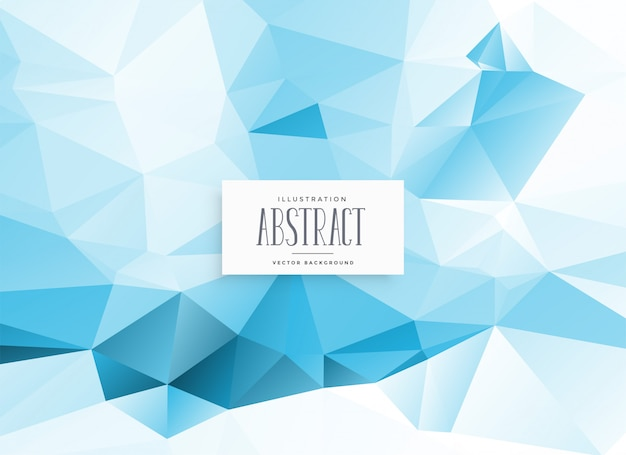 Abstract low poly blue geometric background Free Vector