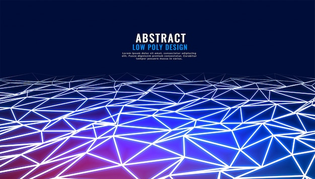 Abstract low poly connection in perspective technology background Free Vector
