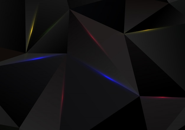 Abstract low poly design Free Vector