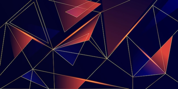 Abstract low poly shiny background Free Vector