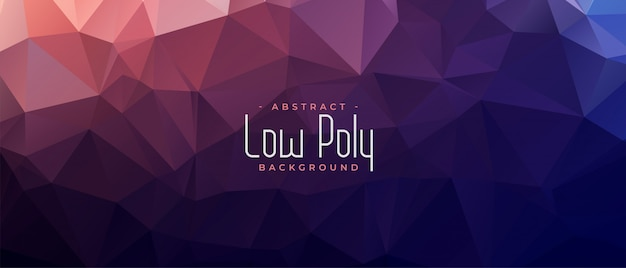 Abstract low poly shiny banner background Free Vector