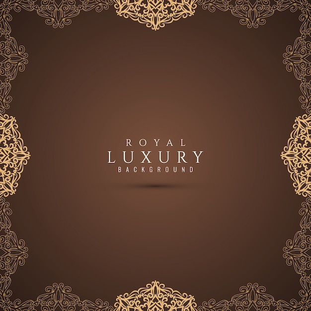 Abstract luxury beautiful decorative background Free Vector