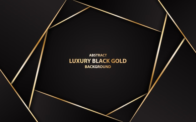 Abstract Luxury Black Gold Background Illustration Vector