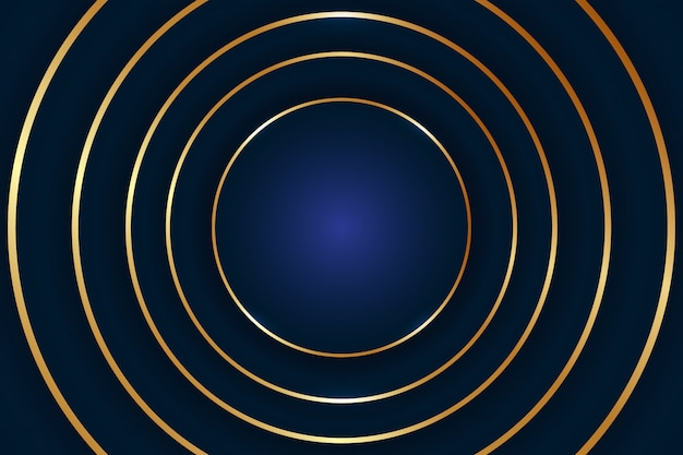 Abstract luxury circle background .vector illustration. abstract golden round shape background Premium Vector