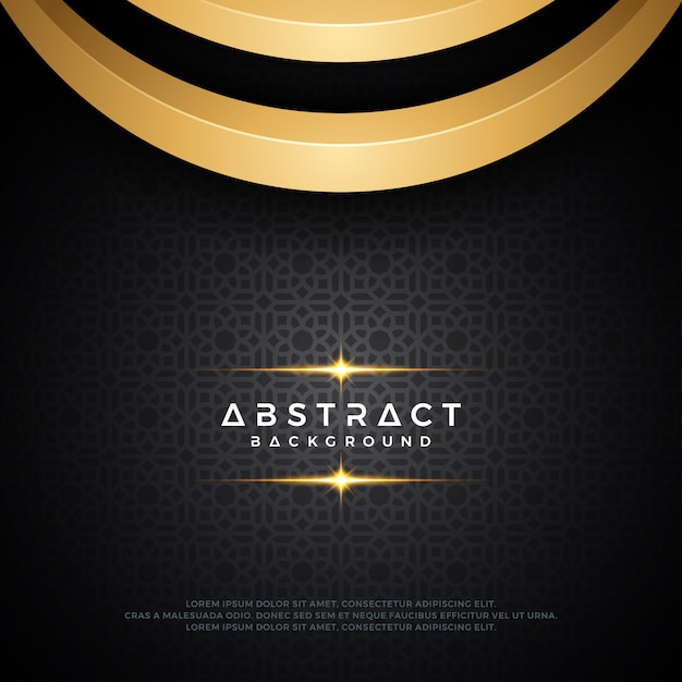 Abstract Luxury Dark And Gold Background Design Vector