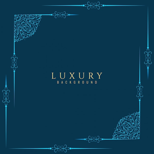 Abstract luxury frame background Free Vector