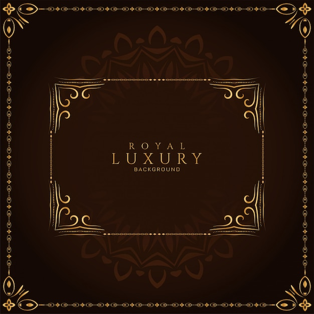 Abstract luxury frame royal decorative background Free Vector
