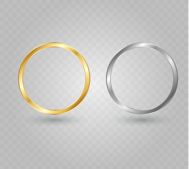 Abstract luxury golden ring.  light circles and spark light effect. Premium Vector