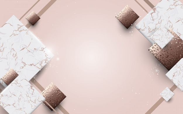 Abstract luxury marble with golden texture background Premium Vector