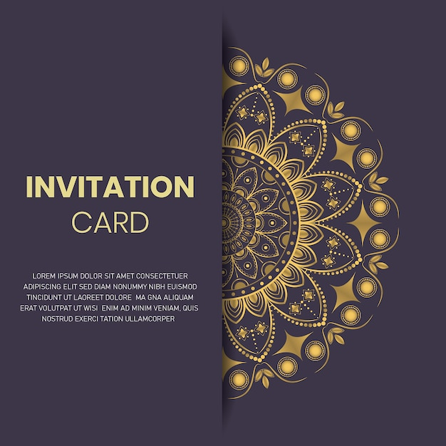 Abstract luxury ornament elegant invitation wedding card template Premium Vector