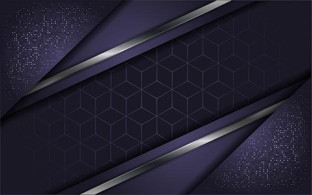 Abstract luxury purple with overlap layer Premium Vector
