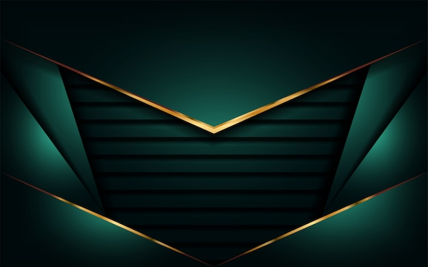 Abstract luxury with overlap modern background Premium Vector