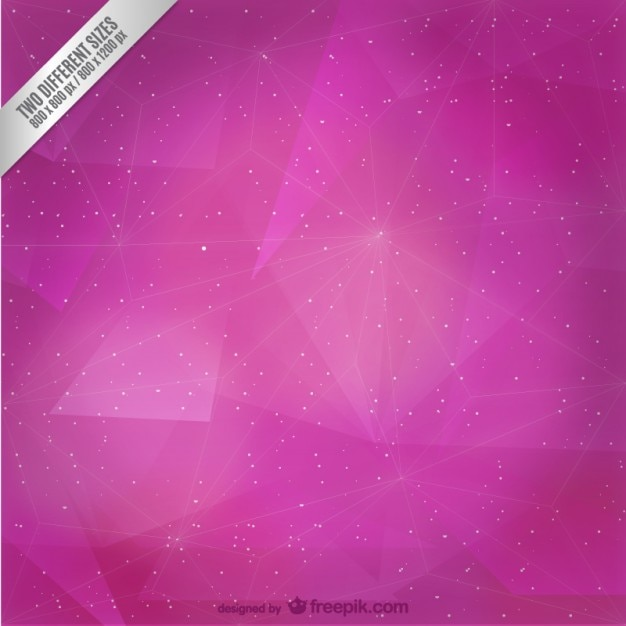 Purple Polygonal Abstract Background: Abstract Magenta Polygonal Background Vector