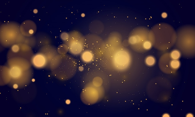 Abstract magical background with bokeh lights effect Premium Vector