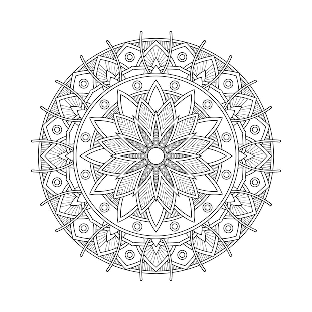 Абстрактный мандала арабески раскраски страницы книжной иллюстрации. футболка . цветочные обои фон Premium векторы