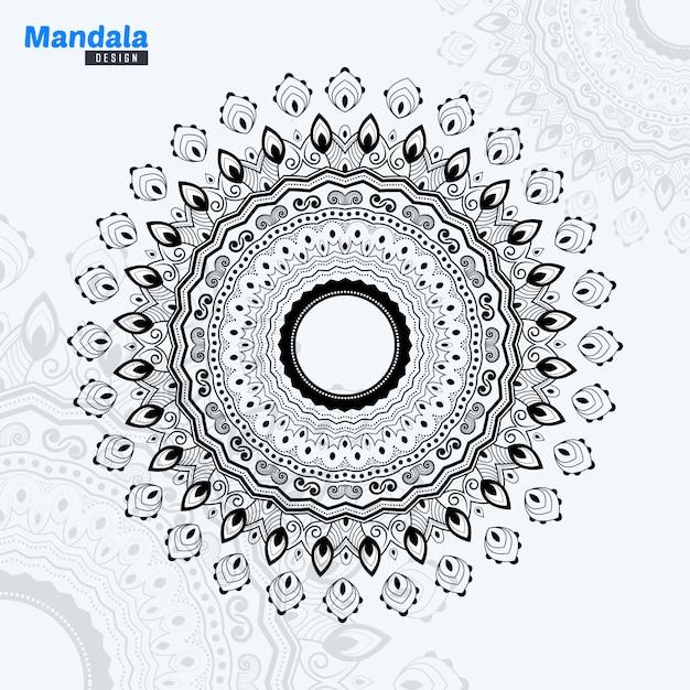 Abstract mandala lineart illustration Premium Vector