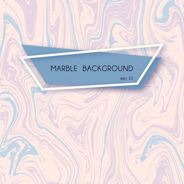 Abstract marble background in pastel pink and blue colors. Premium Vector