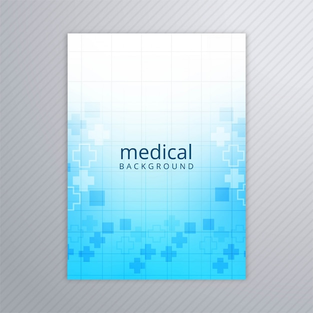 Abstract medical brochure template background vector Free Vector