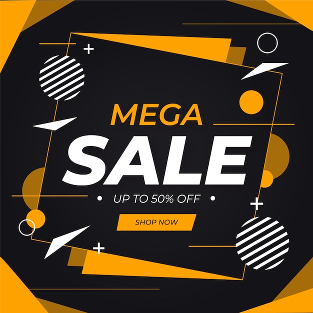 Abstract mega sale background Free Vector