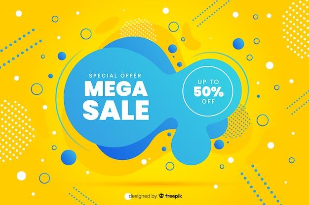 Abstract mega sales liquid background Free Vector