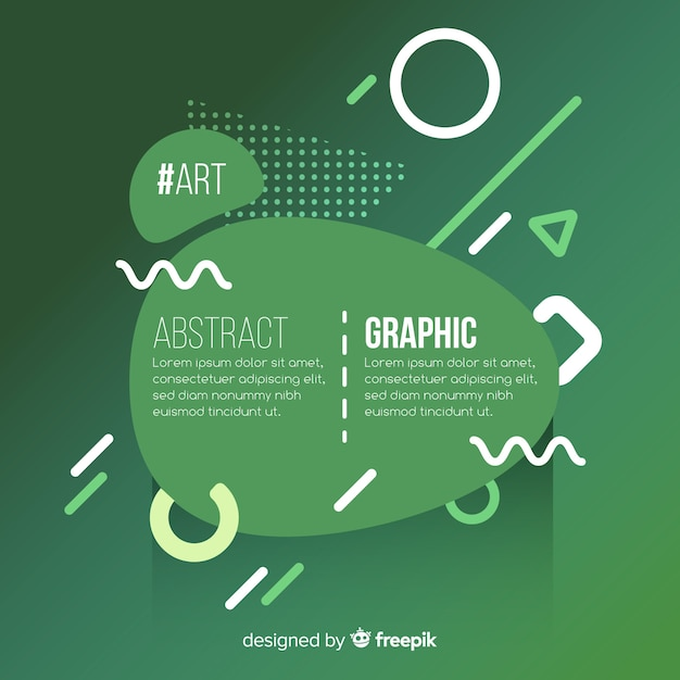 Abstract memphis background Free Vector