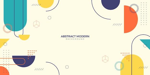 Abstract  memphis background Premium Vector